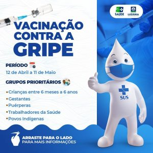 Read more about the article TEM INÍCIO A VACINAÇÃO CONTRA INFLUENZA EM LUZIÂNIA