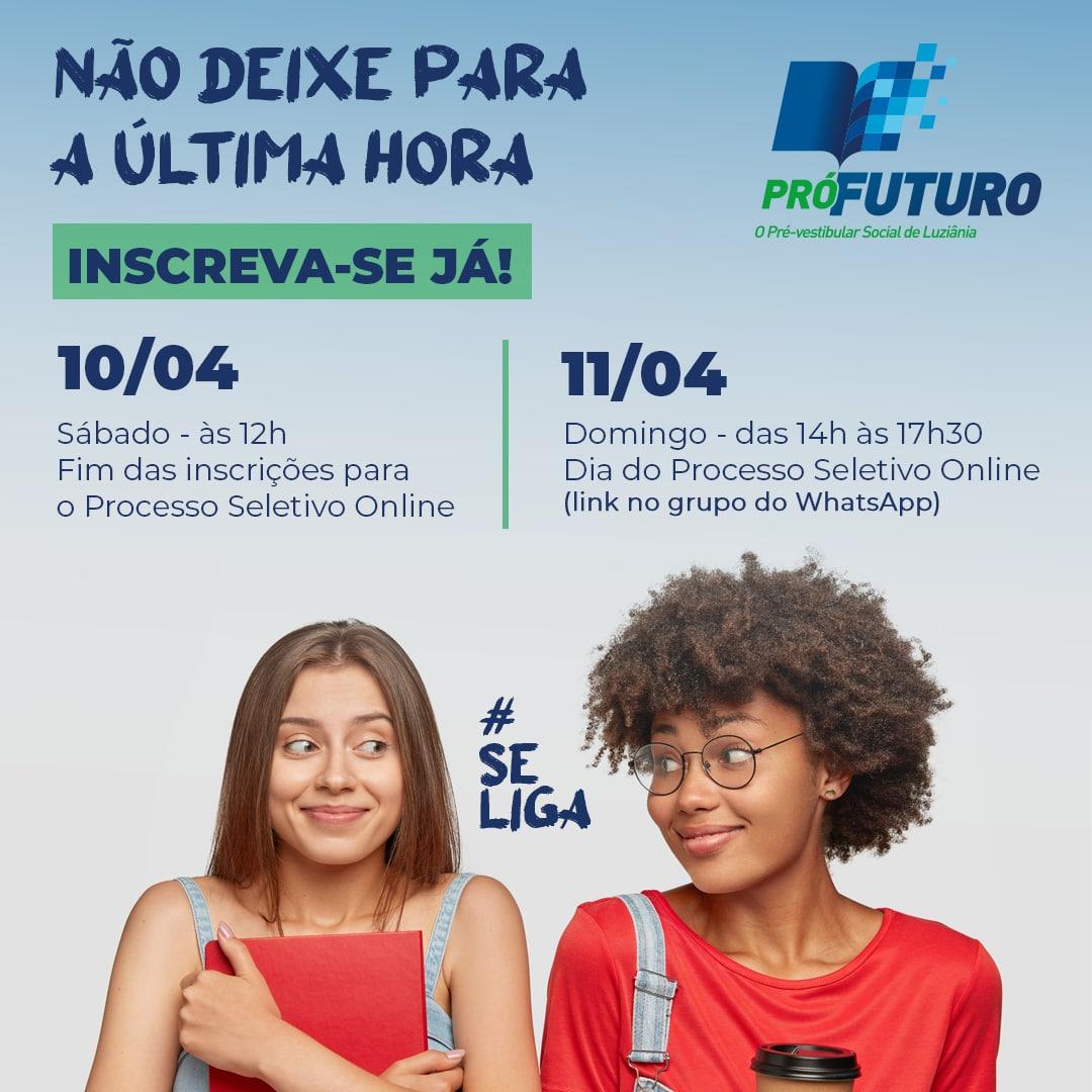 Read more about the article Falta muito Pouco! Pró-Futuro – Pré-vestibular Social de Luziânia