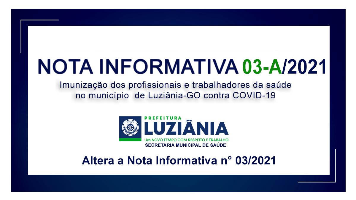 NOTA INFORMATIVA 03-A/2021 – Imunização contra a covid-19 do grupo de pessoas com COMORBIDADES, DEFICIÊNCIA PERMANENTE, GESTANTES e PUÉRPERAS.