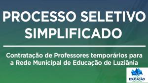Read more about the article Processo seletivo simplificado para contratação de Professores Temporários.