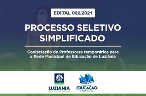 Read more about the article Contratação de Professor temporário – Edital N° 002/2021